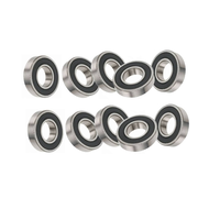 "10x 6203-5/8"" 2RS Deep Grooved Ball Bearings"